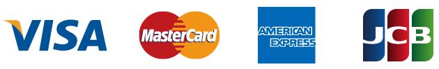 VISA・MasterCard・AMERICAN EXPRESS・JCB